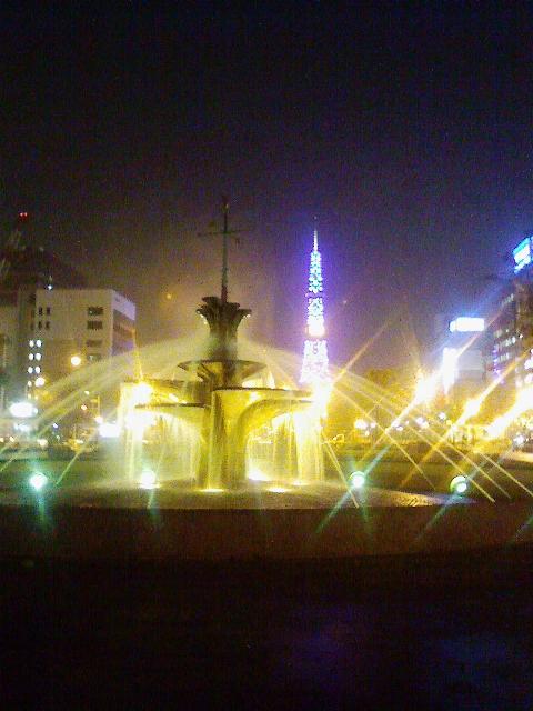 札幌大通り公園からの夜景